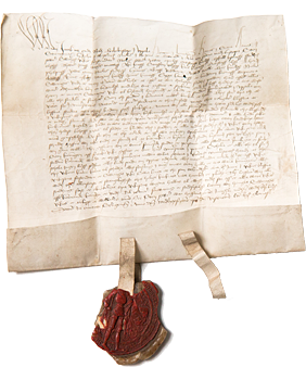 Pope Sixtus IV's bull (permission letter) to establish a university in Uppsala.