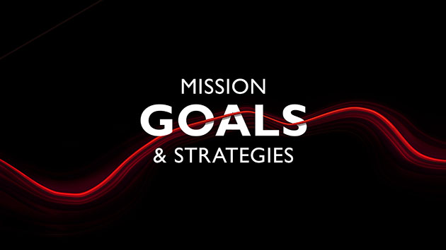"Cover for the brochure ""Mission, Goals and Strategies"""
