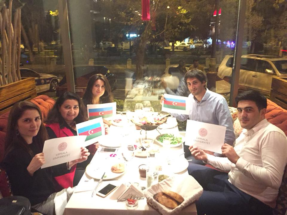 Alumni celebrating Global Alumni Day 2017 in Baku