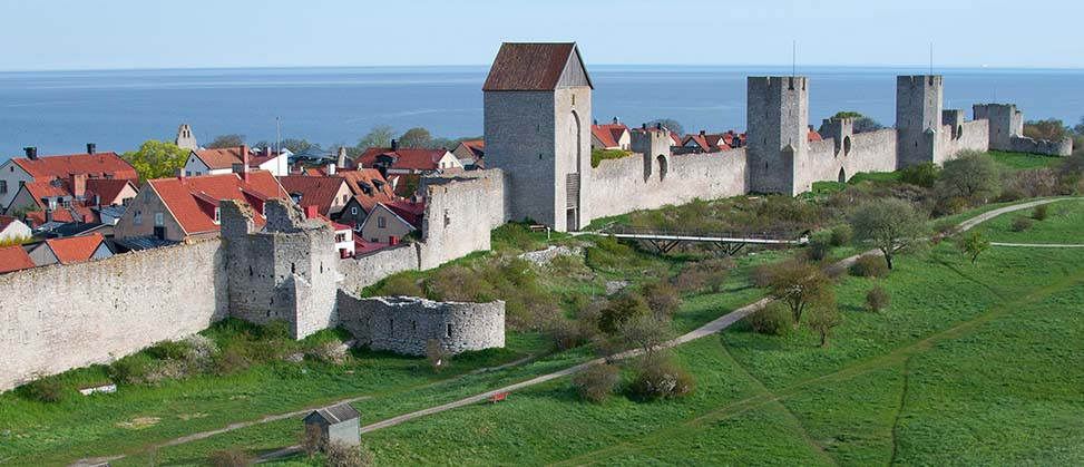 The medieval Visby Town Wall, an integral part of Visby World Heritage Site