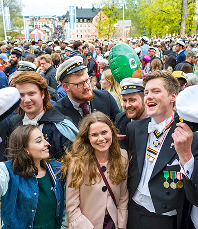 Students celebrating Valborg